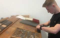Will working in the letterpress room