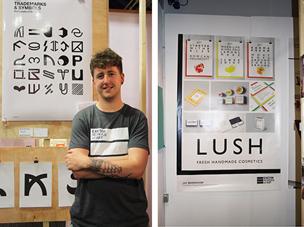 Lee Burwood and his alphabet design