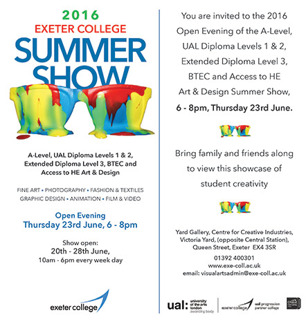 Summer art show invitation