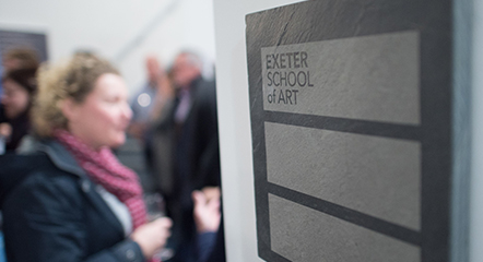 shallow depth of field exeter school of art sign